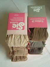 Dameris Damen 6-8-10 Paar Feinkniestrümpfe Gr. 0 braun grau weiß 10% Elastan