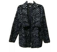 Sioni Long Wrap Fuzzy cardigan Sweater  XL Boho Women's steampunk Open Front