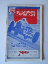 Brooklands programme 1938.British racing drivers club programme.BDRC.