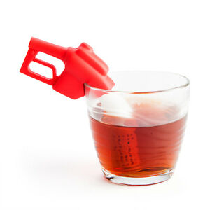 Xmas Gift present Red Fun office  Portable Refuel Novelty Tea Infuser Silicone