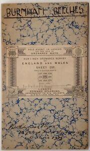 Antique Ordnance Survey One-Inch Map Buckinghamshire (Sheet 255) 1915