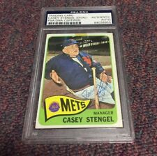 Casey Stengel Signed AUTOGRAPHED CARD PSA Dual Signed