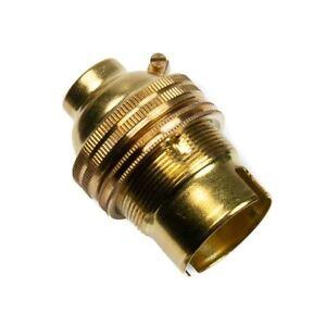 175mm High Solid Brass Polished Finish BC Lampholder Pedestal KIT