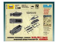 ZVEZDA 6127 1:100 WWII German Halftrack SdKfz251/1 Personnel Carrier FREE SHIP
