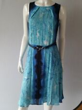 COMMA Kleid Dress in Blautönen Gr.36--F38--UK10*****NEU