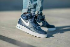 Nike Air Force 1 Mid '07 Basketball Shoes Navy Blue White CK4370-400 Men's NEW