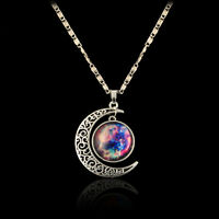 Magic Moon Star Constellation Crescent Moonstone Time Star Pendant Necklace NEW
