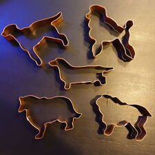 MARTHA STEWART Dog Copper COOKIE CUTTER KIT SET of 5 Martha by Mail NEW w/o box
