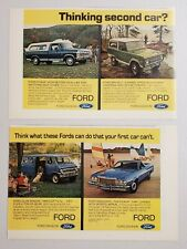 1973 Print Ad Ford Club Wagon Van, Ranchero, Pickup Truck & Bronco with 4WD