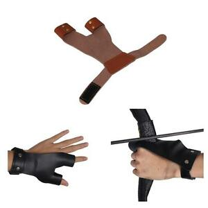 Archery Finger Guard Leather Left Right Hand Protector Gear Recurve Bow Hunting