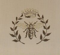 Needlepoint HANDPAINTED Sandra Gilmore BEE 6 x 5.5