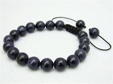 Men's Manual preparation bracelet all 10mm BLUE GOLDSTONE stone beads