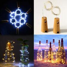 20/30/50 LED Wine Bottle Fairy String Light Cork Starry Night Lamp Party Xmas Id