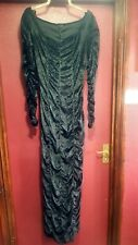 Black Rouched Coffin Dress S/M Goth/Gothic/Halloween