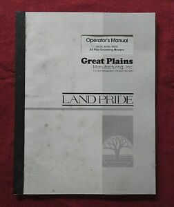 GREAT PLAINS 40133 40168 40200 ALL FLEX GROOMING MOWERS OPERATOR MANUAL
