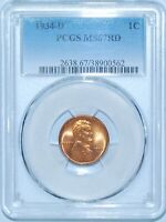 1934 D PCGS MS67RD Red Lincoln Cent