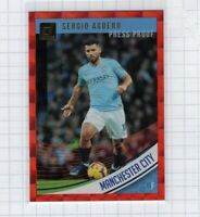 2018-19 Serio Aguero Panini Donruss Red Press Proof Red #37 Manchester City FC