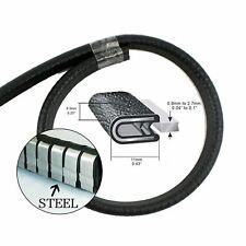 Metal Clip Seal Trim Rubber Material Vehicle Car Door Trunk Edge Protection 10M
