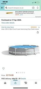 Intex 10ft above ground pool with Heater, Pump, Skimmer USED