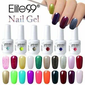 Soak Off Elite99 UV Color Gel Nail Polish Manicure Lacquer Top Base Coat 15ML