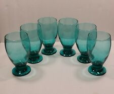 6 New Cristar SMOKE GREEN Juice Water Goblets Glasses Drinking Stemware, 12 oz