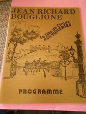 Programme Circo Circus Cirque Jean Richard Bouglione 1976