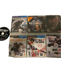 PS3 7 Game Lot (PlayStation 3) 6 Complete Watch Dogs Call Of Duty Battlefield