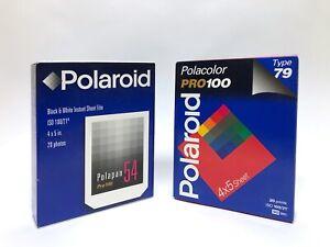 EXPIRED Polaroid 4x5 print film  (54 & 79 SEALED and unopened)