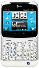 HTC 6130 Status ChaCha Facebook Silver AT&T Smartphone Demo Unit