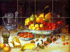Art Nicolaes Gillis Still Life Mural Ceramic Backsplash Decor Tile #262