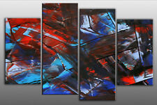 LARGE ABSTRACT SPLIT CANVAS ARTWORK PICTURE MULTI 40""