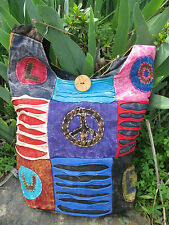 Love & Peace Hippie BoHo Vintage Bohemian Patchwork Shoulder Bag
