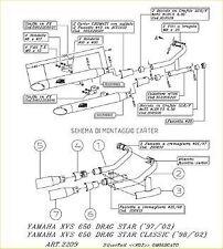 TERMINALE SCARICO SILVERTAIL YAMAHA DRAG STAR 650-CLASSIC K02 2006 06