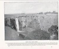 1897 Victoriano Estampado ~ Howick Cascadas South Africa ~ Más Descriptive Texto
