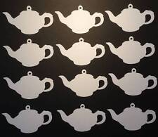 12 Teapot shaped Gift Tags/labels