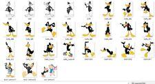 Raccolta 27 CLIPART DUFFY DUCK Looney Tunes immagine vettoriali formato EPS JPG
