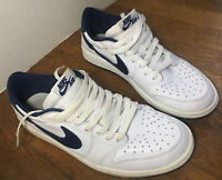 Air Jordan 1 Retro Low OG Metallic Navy Size 9.5 Used 705329-106 Rare VTG Nike