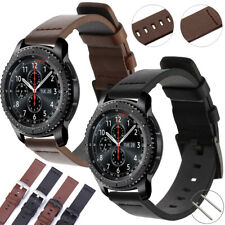 US Genuine Leather Band Quick Watch Strap Wristband Belt Black / Brown 22mm 20mm
