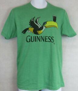 Guinness Toucan Beer Mens T-Shirt New Green S Officially Licensed
