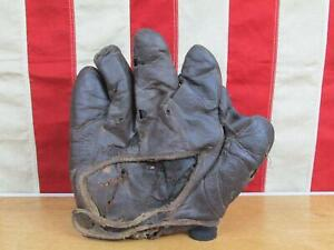 "Vintage 1910s Reach Leather Baseball Glove 1"" Web Fielders Mitt Antique Display"