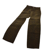 FENDI Vintage Leopard Pattern Long Pants Brown Black Authentic AK31497b