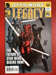 Star Wars Legacy Vol 1, #1 Dark Horse 2006 - signed by Adam Hughes - Mint!