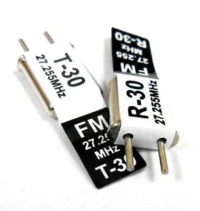 27mhz FM Transmitter and Radio RC Crystal Set 27 mhz 27.255 TX & RX Black Ch 30
