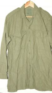 """BRITISH ARMY POST WW2 WWII WOOL SHIRT MILITARY GENUINE ISSUE 42"""" CHEST NS26"""