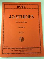 Cyrille Rose 40 Studies For Clarinet Book Ii