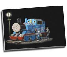 "Banksy Thomas The Tank Engine Graffiti Canvas Print Wall Art 30x20"" A1"