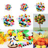 100Pcs DIY Mixed Color Mini Fluffy Soft Pom Poms Pompoms Ball Arts and Crafts