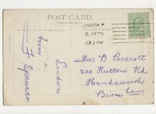 Miss B Prescott Hutton Road Handsworth Birmingham 1909 299a