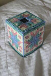Handmade Plastic Canvas Tissue Box Covers