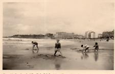 DR136 Photographie Photo Vintage Snapshot Plage Beach Mer Seaside  BIARRITZ